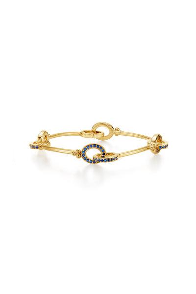 Temple St. Clair - 18K Yellow Gold Orsini Sapphire Link Bracelet