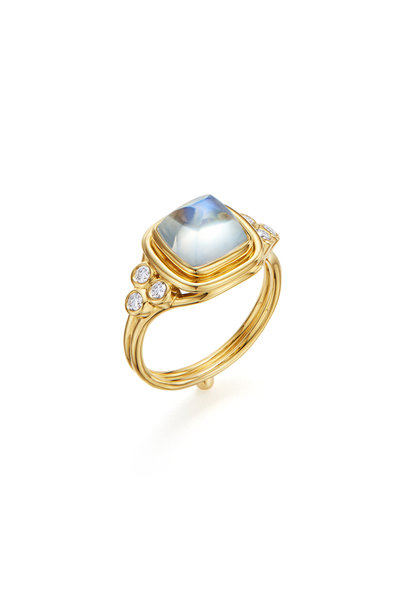 Temple St. Clair - 18K Yellow Gold Classic Sugar Loaf Moonstone Ring