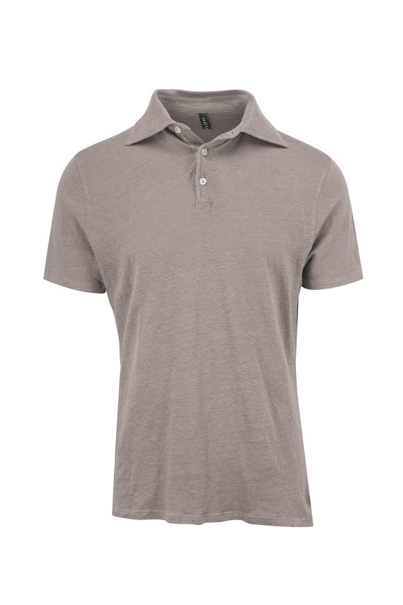 04651/ Grey Taupe Linen Polo