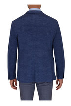 Maurizio Baldassari - Navy Blue Houndstooth Wool Sportcoat