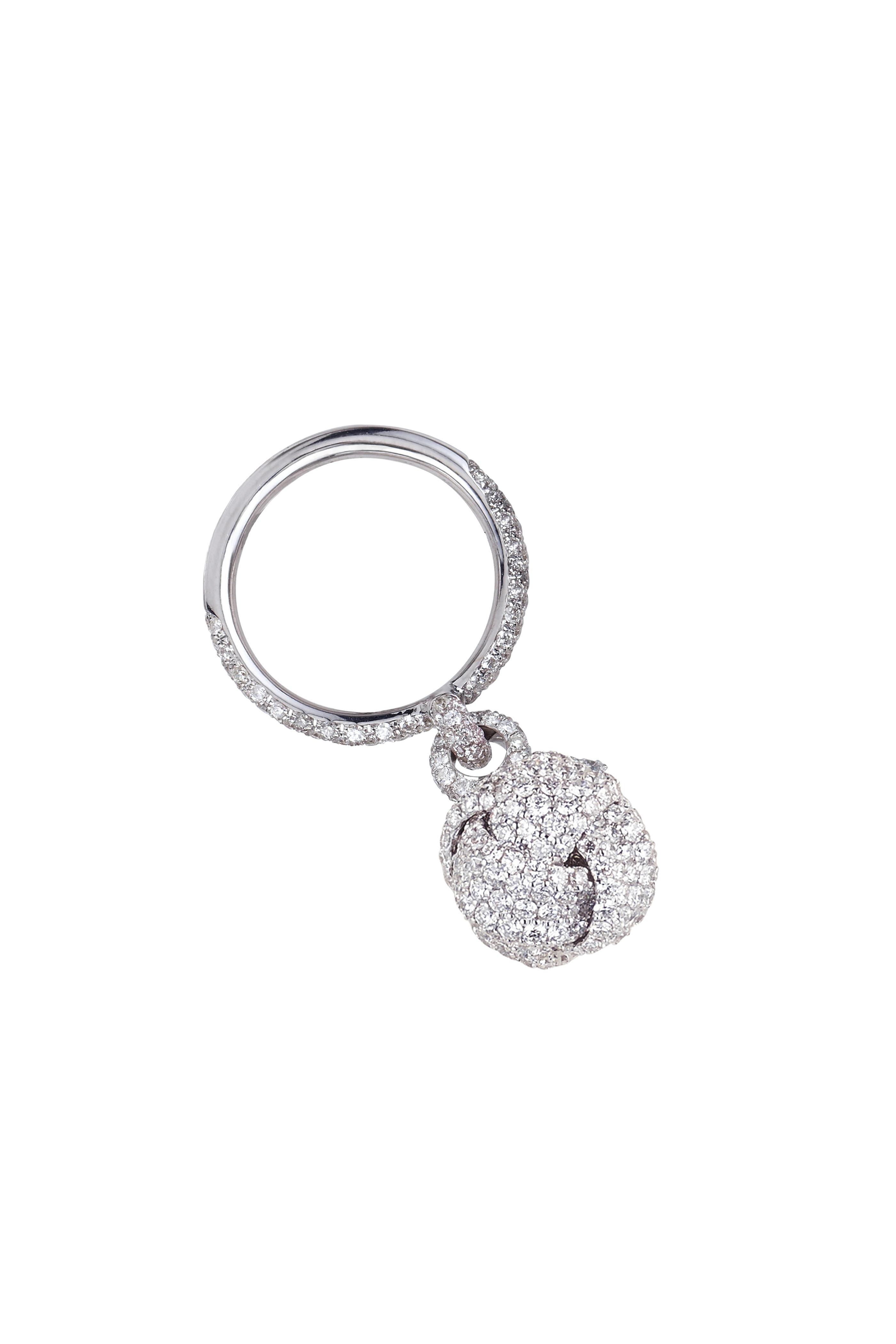 Mariani 18k White Gold Nodi Diamond Knot Ring Mitchell Stores