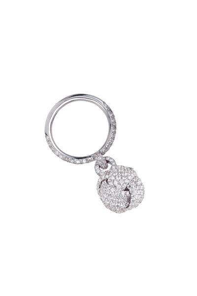 Mariani - 18K White Gold Nodi Diamond Knot Ring
