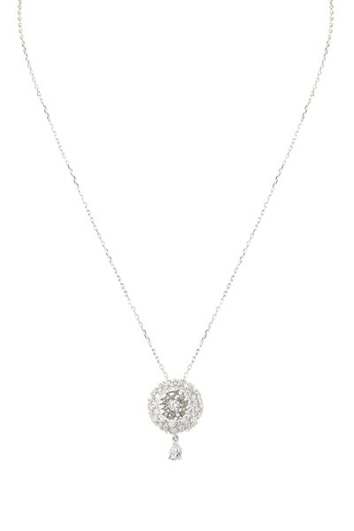 Mariani - 18K White Gold Diamond Necklace