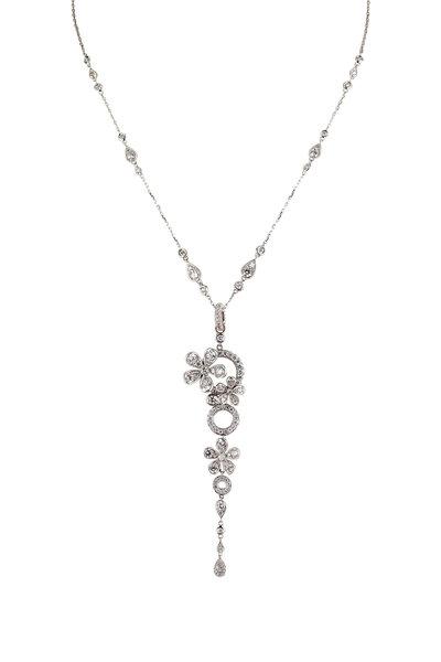 Mariani - 18K White Gold Botticelli Diamond Necklace