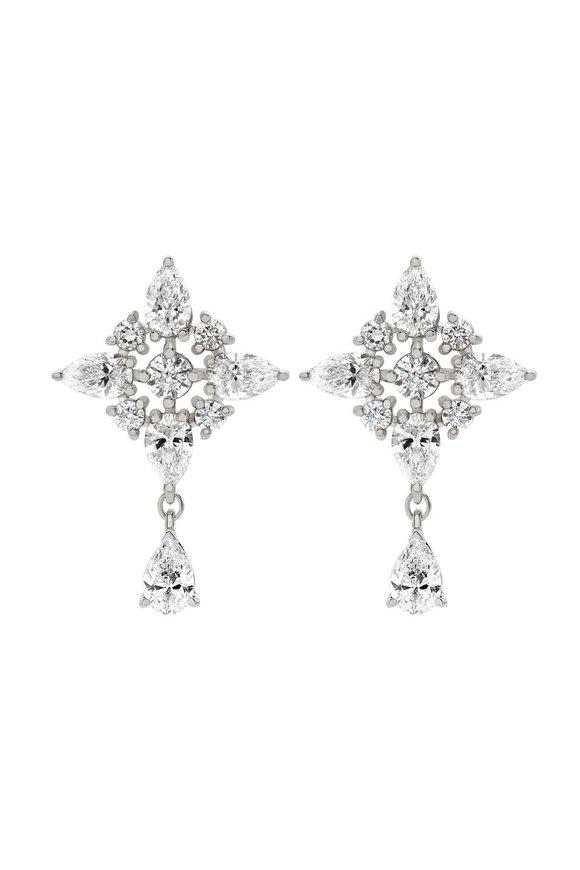 Mariani 18K White Gold Diamond Earrings