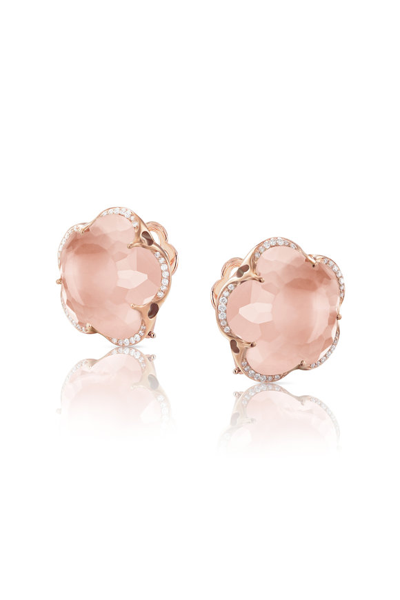 Pasquale Bruni Rose Gold Bon Ton Pink Earrings