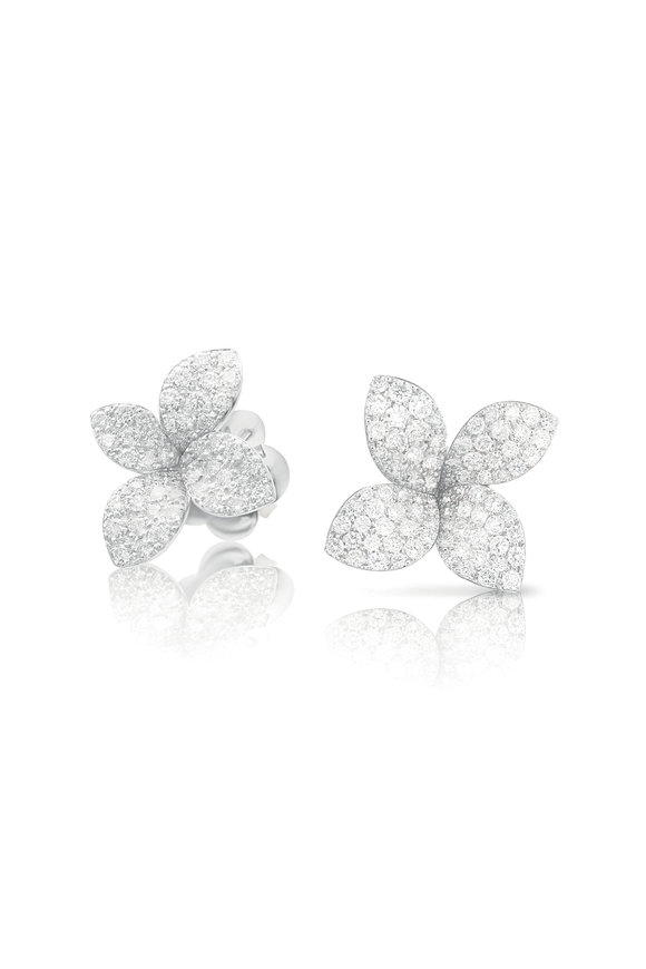 Pasquale Bruni 18K White Gold Giardini Segreti Diamond Earrings