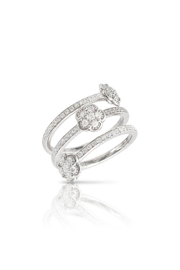 Pasquale Bruni 18K White Gold Figlia Dei Fiori Diamond Ring