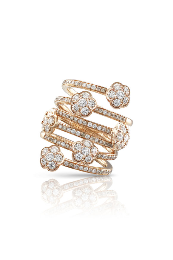 Pasquale Bruni Rose Gold Figlia Dei Fiori Mixed Diamond Ring