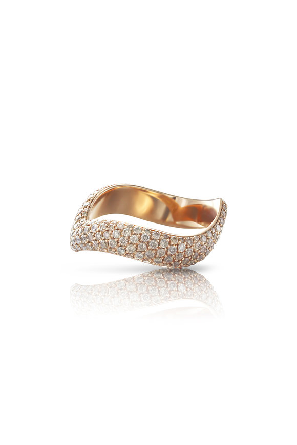 Pasquale Bruni 18K Rose Gold Touch Diamond Ring