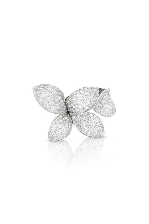Pasquale Bruni 18K White Gold Giardini Diamond Ring