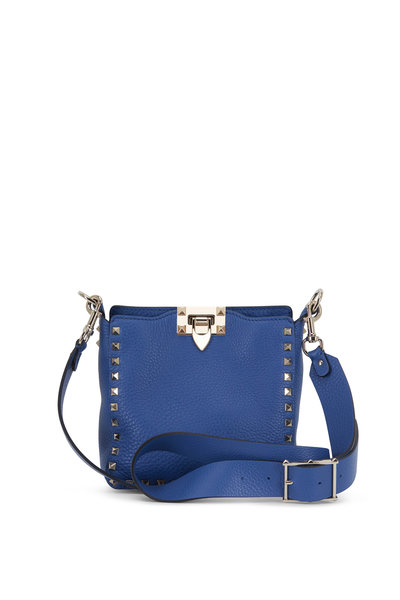Valentino Garavani - Rockstud Baltique Leather Mini Hobo Crossbody