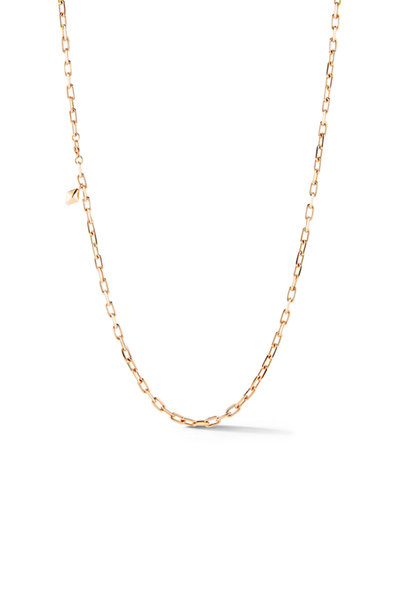 Walters Faith - 18K Rose Gold Bell & Saxon Hexagon Tablet Necklace