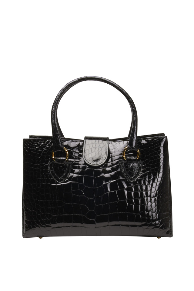 Black Alligator Tote