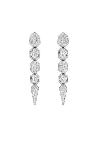 Sutra - 18K White Gold Full Cut Diamond Earrings