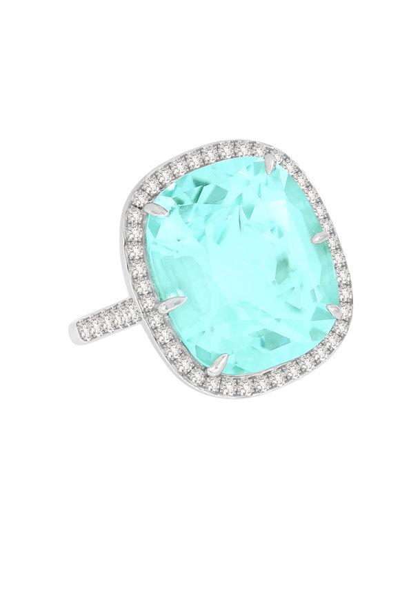 Sutra 18K White Gold Mint Tourmaline Ring