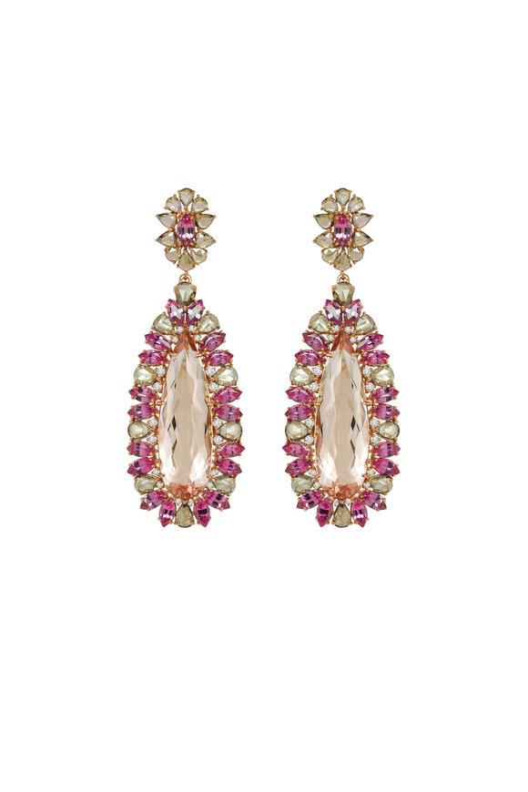 Sutra 18K Rose Gold Pink Spinel & Morganite Earrings