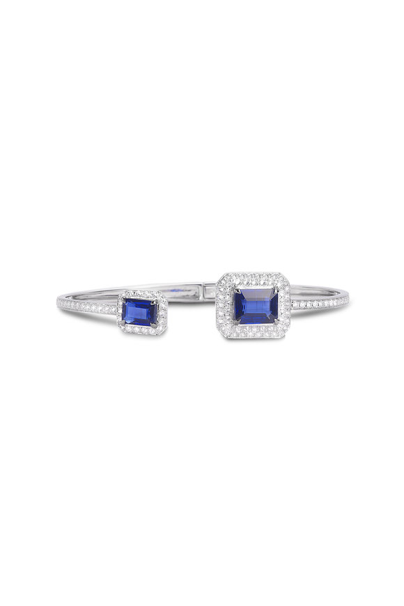 Nam Cho 18K White Gold Kyanite & Diamond Earrings