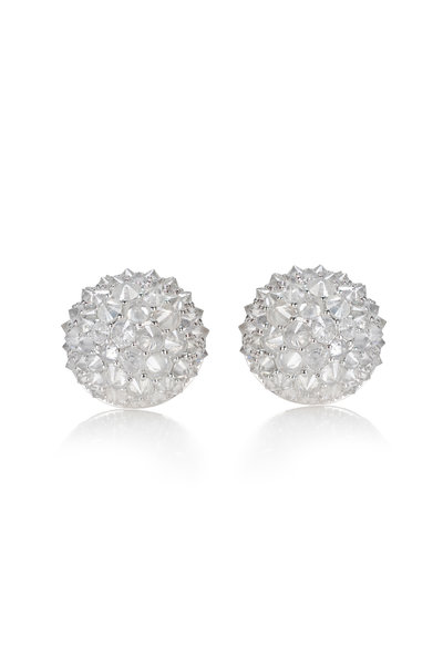 Nam Cho - 18K White Gold White Diamond Ball Earrings