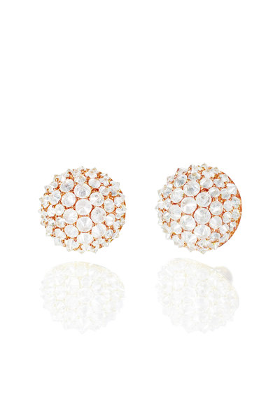 Nam Cho - 18K Rose Gold Ice Diamond Spike Stud Earrings