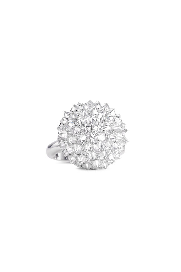 Nam Cho 18K White Gold Ice Diamond Ball Ring