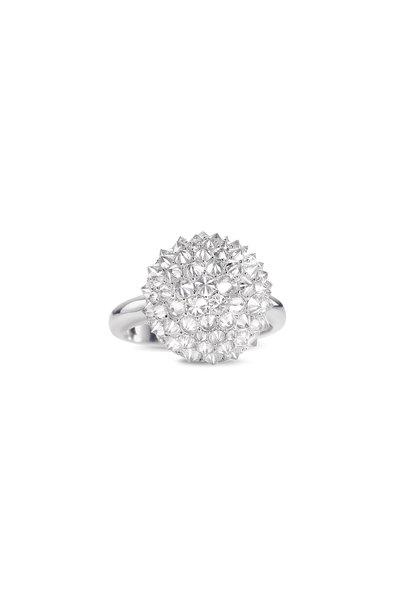 Nam Cho - 18K White Gold Diamond Ball Ring