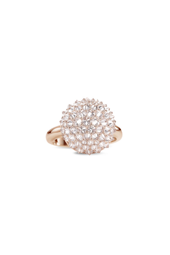 Nam Cho 18K Rose Gold Diamond Medium Ball Ring