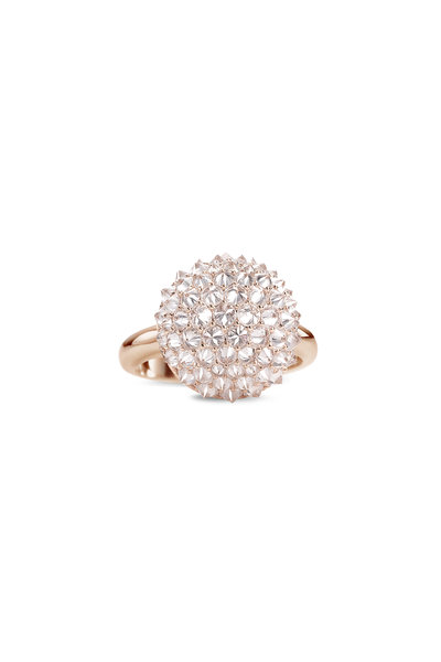 Nam Cho - 18K Rose Gold Diamond Medium Ball Ring