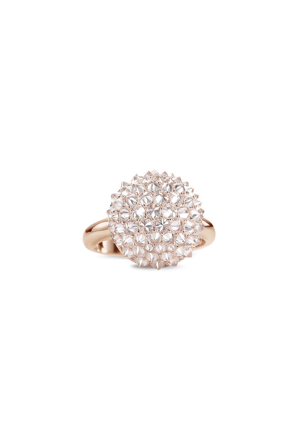 Nam Cho 18K Rose Gold Diamond Ball Ring