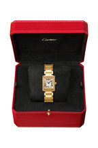 Cartier - Yellow Gold & Diamond Tank Francaise Small Watch
