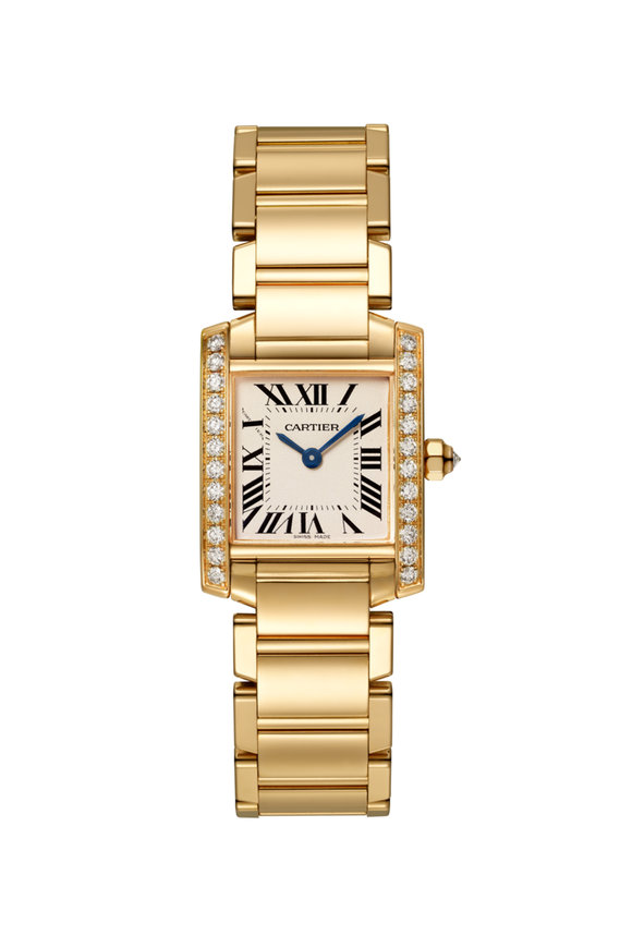 Cartier Yellow Gold & Diamond Tank Francaise Small Watch