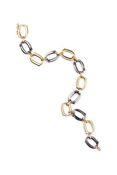 Sylva & Cie - Silver & Rose Gold Link Bracelet