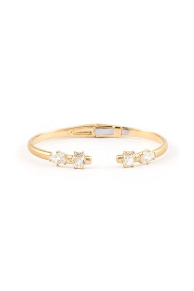 Sylva & Cie - 18K Yellow Gold Mixed Shape Diamond Bangle