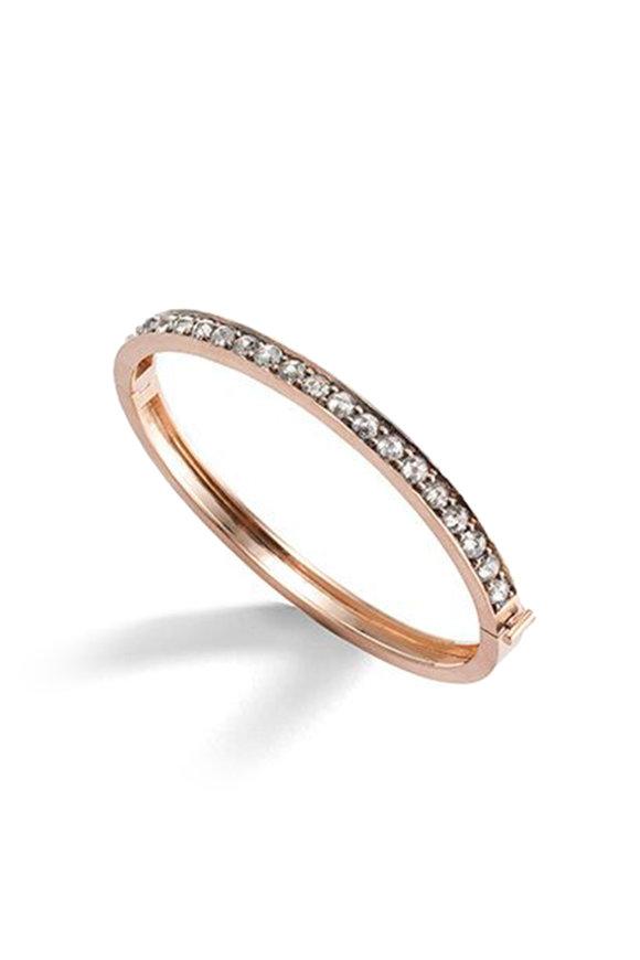 Sylva & Cie 14K Rose Gold Medium Gray Diamond Cuff