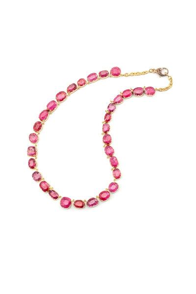 Sylva & Cie - 18K Yellow Gold Burmese Spinel Necklace