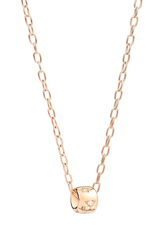 Pomellato 18K Rose Gold Iconica Diamond Pendant Necklace