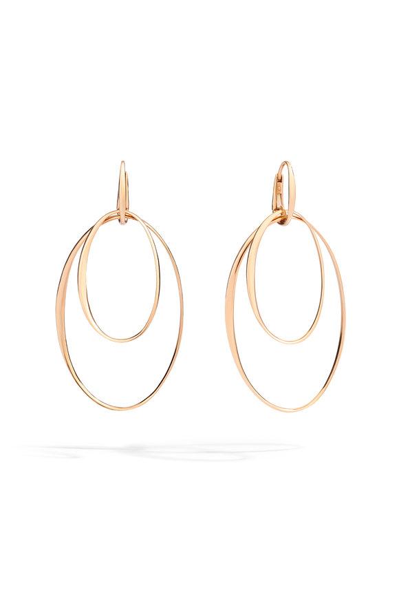 Pomellato 18K Rose Gold Double Hoop Earrings