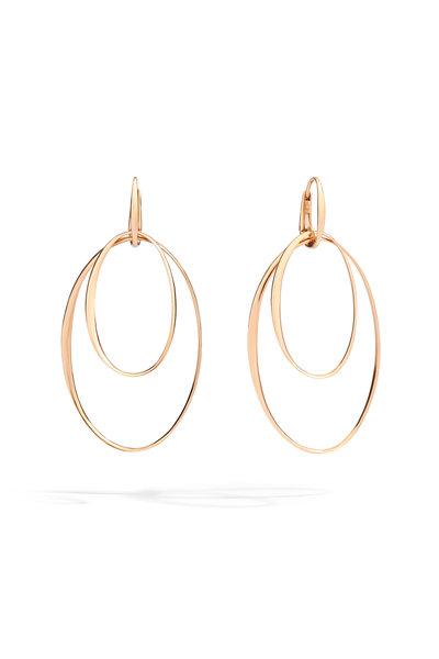 Pomellato - 18K Rose Gold Double Hoop Earrings