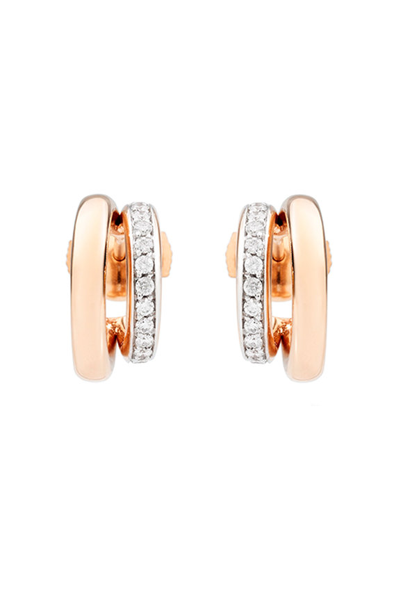 Pomellato 18K Rose Gold Iconica Double Huggie Earrings