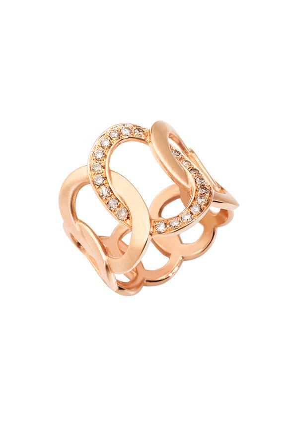 Pomellato 18K Rose Gold Brera Diamond Ring