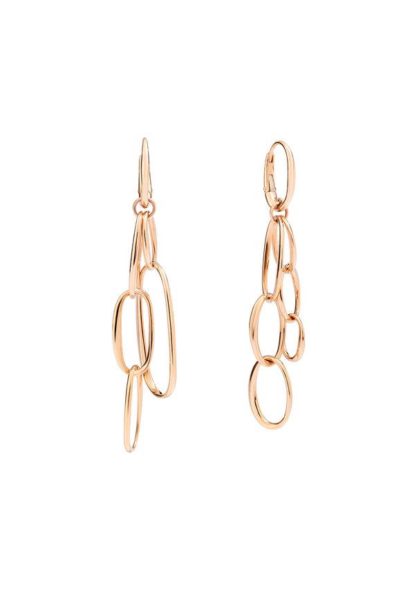 Pomellato 18K Rose Gold Chain Earrings