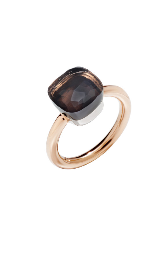 Pomellato 18K Rose Gold Nudo Smoky Quartz Ring