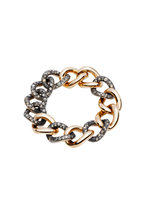 Pomellato - Pink Gold Burnished Silver Diamond Tango Bracelet
