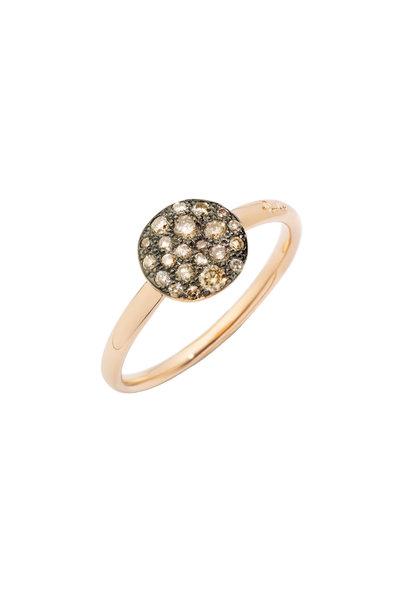Pomellato - Rose Gold Mini Sabbia Brown Diamond Ring