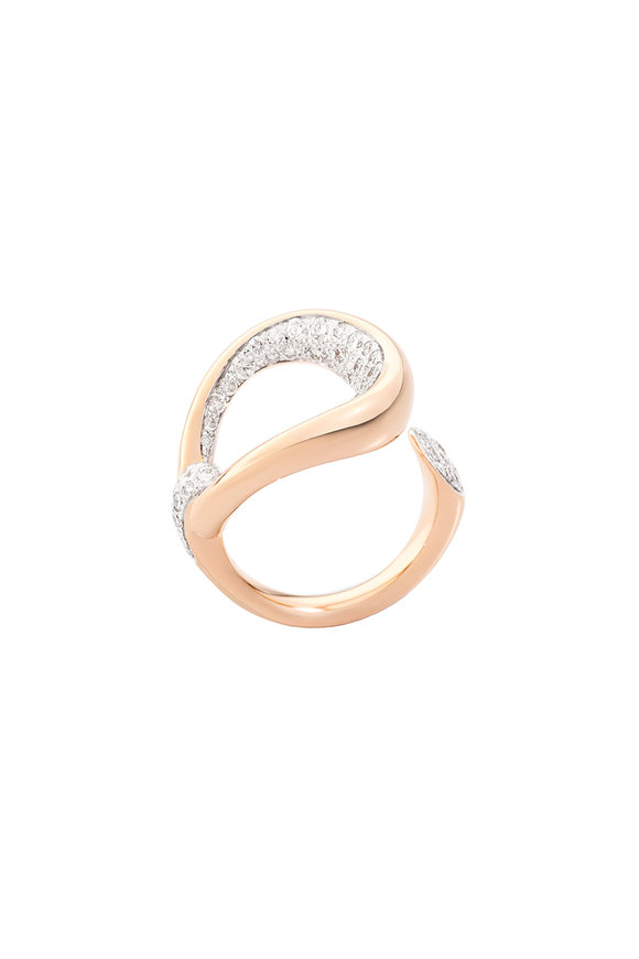 Pomellato Rose Gold Fantina Diamond Ring