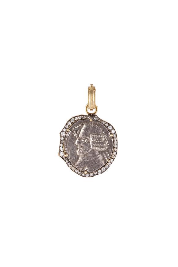 Sylva & Cie 18K Yellow Gold Ancient Persian Coin Pendant