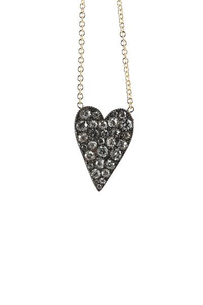 Sylva & Cie - 18K Gold & Silver Ten Table Heart Pendant