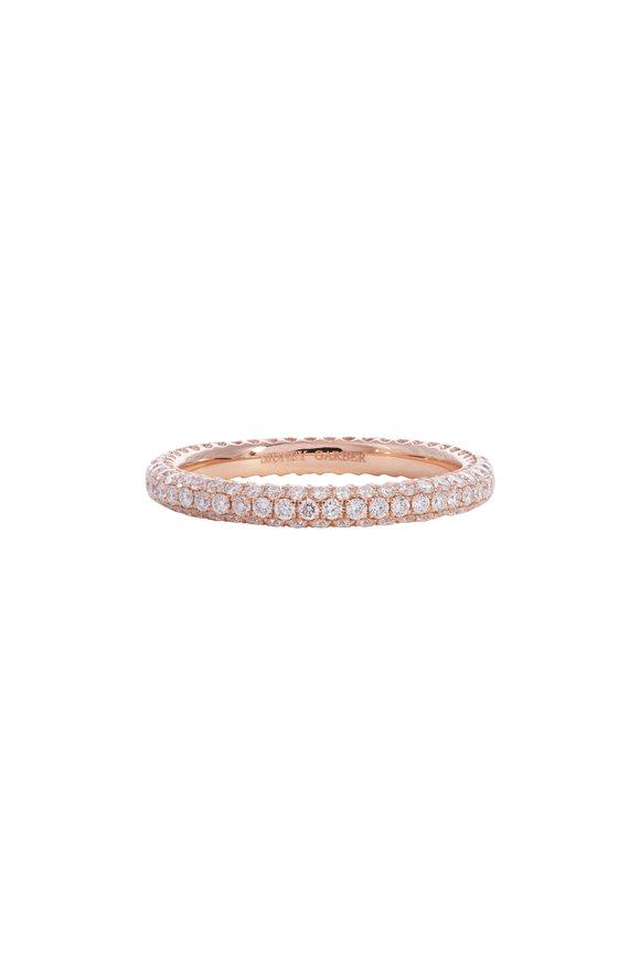 Sidney Garber 18K Rose Gold Diamond Thread Ring