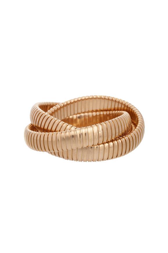 Sidney Garber 18K Yellow Gold Rolling Bracelet