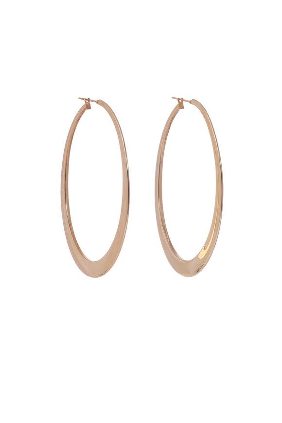 Sidney Garber 18K Yellow Gold Crescent Hoop Earrings